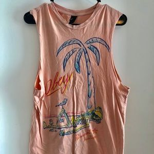 Obey permanent vacation muscle tank small